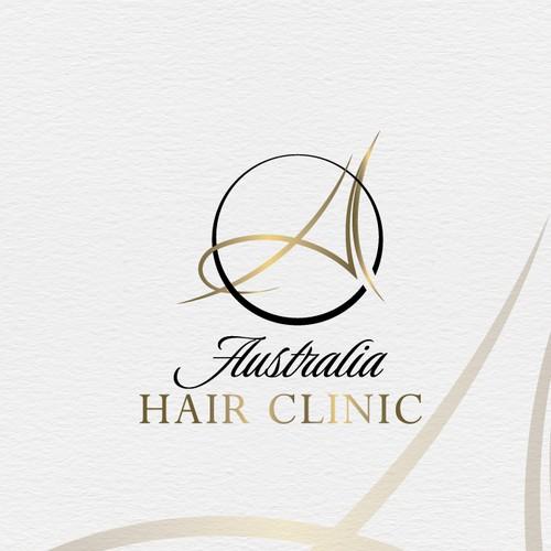 Feminine logo for Hair Clinic