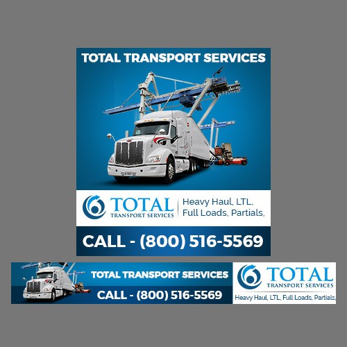 Banner Ad for Freight Transport Website