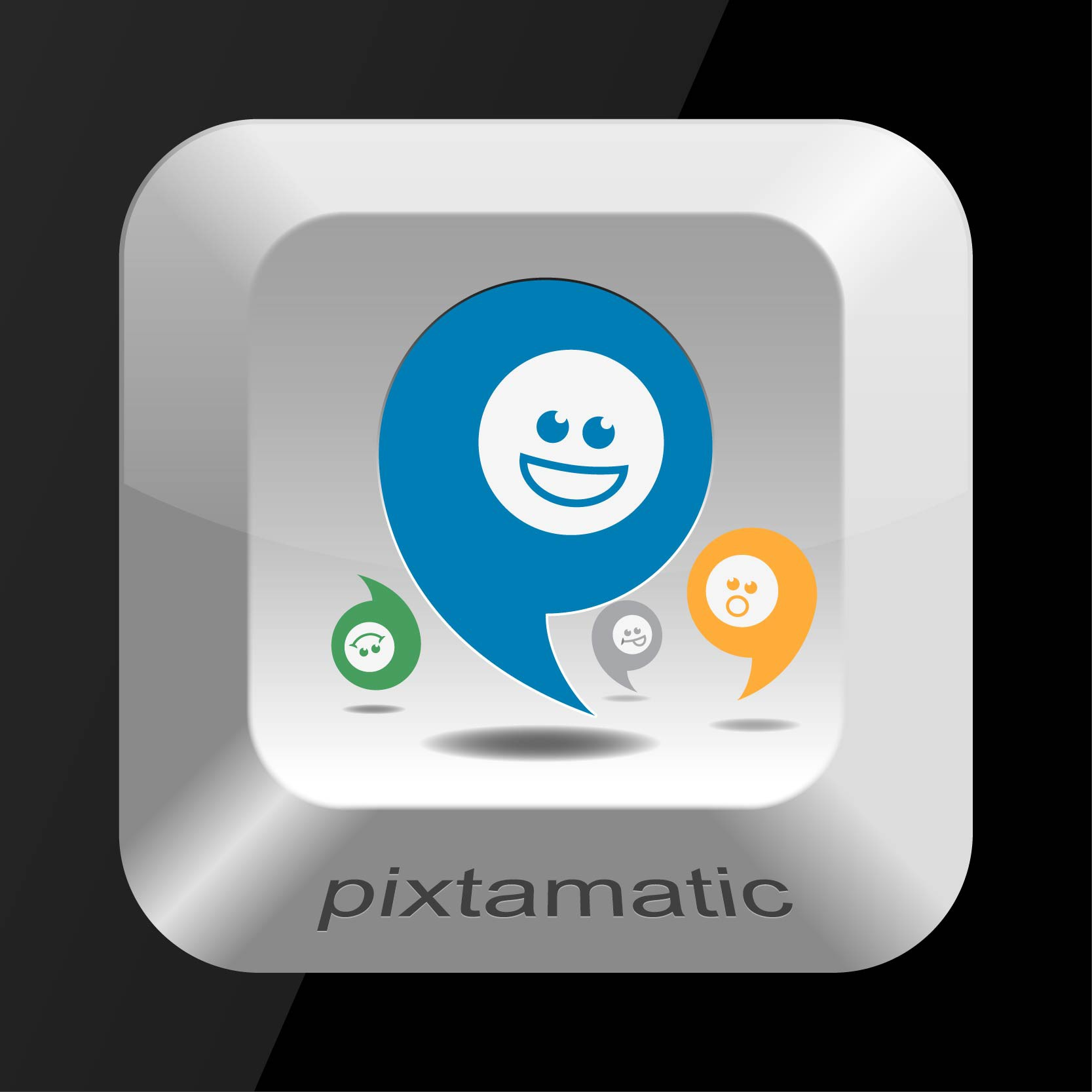 Create the next icon or button design for Pixtamatic from Triple Dog Dare Studios