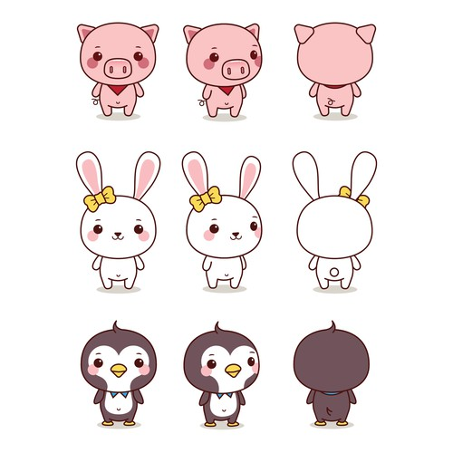 Character Design - Kawaii Animals