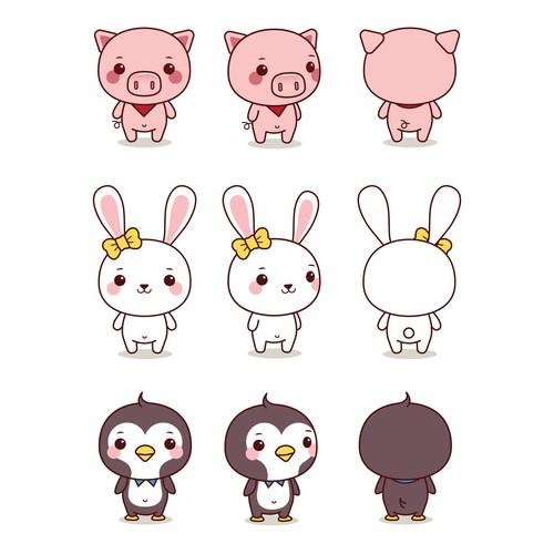 Character Design - Kawaii Animals
