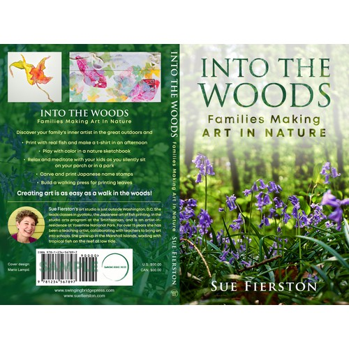 Book cover for the non-fiction book Into the Woods: Families Making Art in Nature