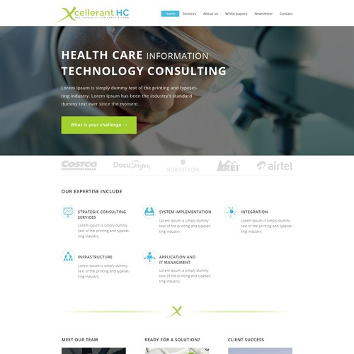 Over the horizon website for an over the horizon healthcare IT consulting firm