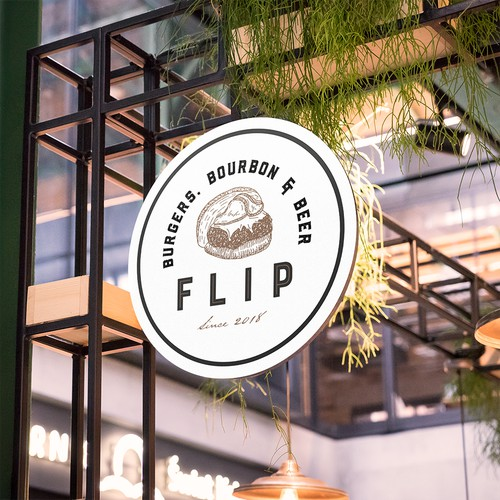 Logo Design Concept for Flip Burgers
