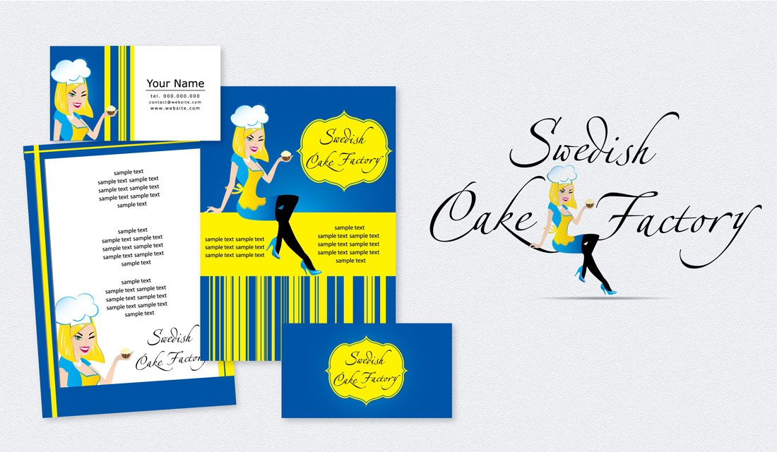 Create the next logo for Swedish Cake Factory