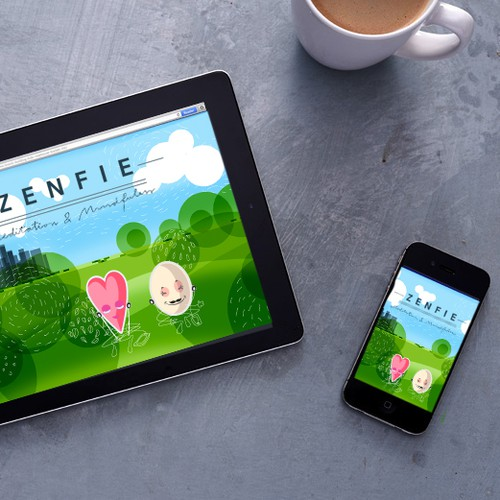 Create illustrations and design identity for Zenfie