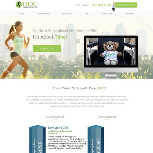 Orthopedic Medical Website Design
