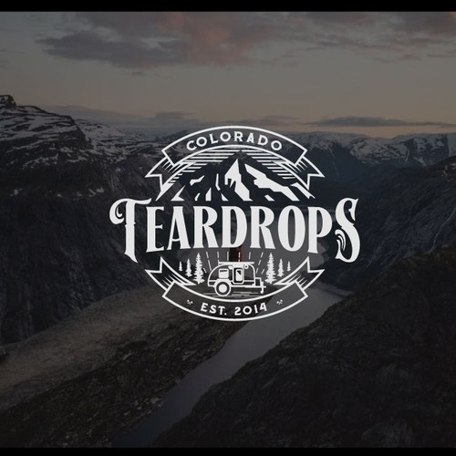 Trailer teardropnature Colorado logo design