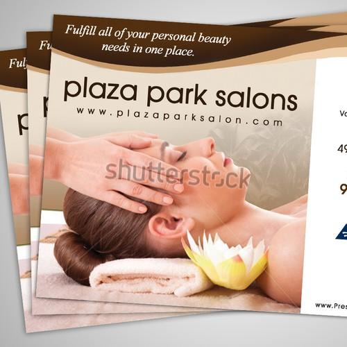 Create an ad for Plaza Park Salons