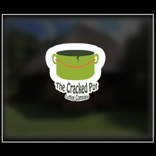 coffee company logo sticker