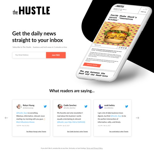Web Design for business and tech news company
