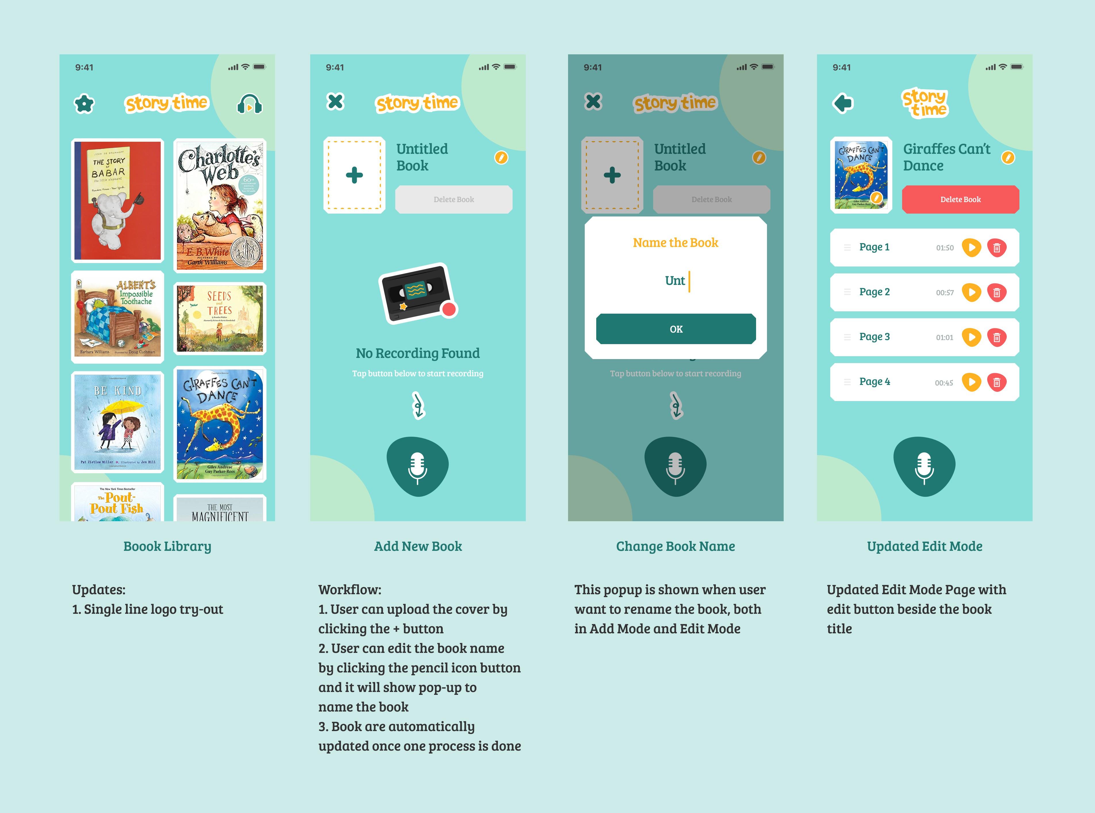 Design kids audio book app