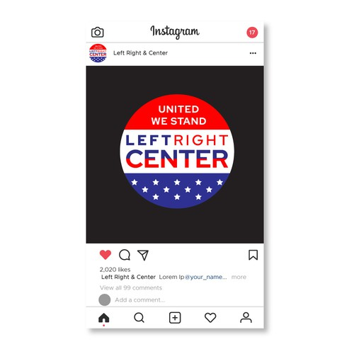 LEFT RIGHT & CENTER IG LOGO