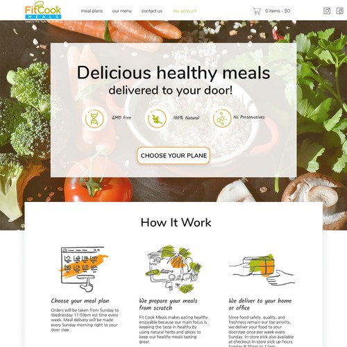 An epic website redesign for meal prep company