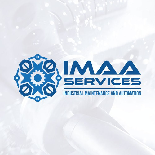 Logo for an industrial maintenance and automation company