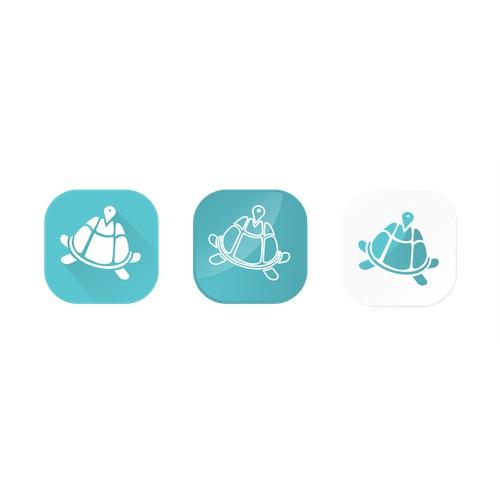 Turtle travel icon app