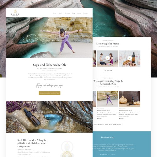 1-1 Project for Pure Scents Yoga - Homepage