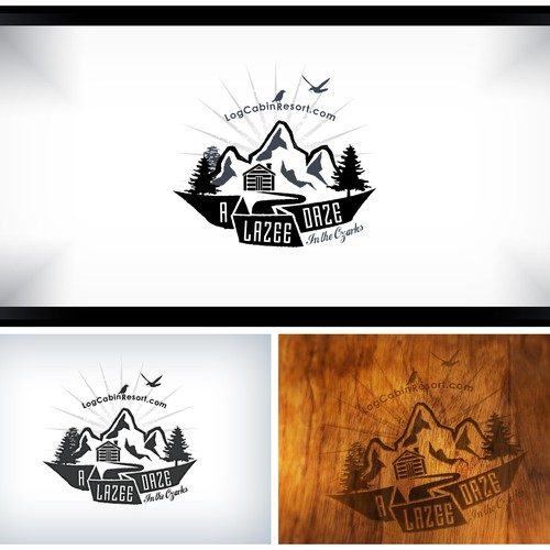 Create a Vintage feeling brand for a Luxury Log Cabin Resort