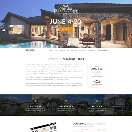 Website template for events