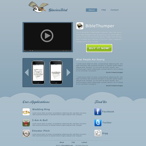 Design a Hot iPhone App Landing Page