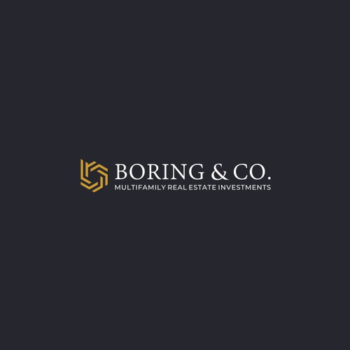 Modern Logo Icon With B initial Letter For Boring & Co