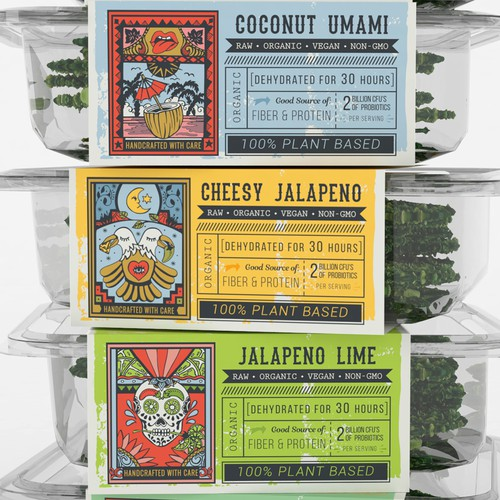 Playful Retro Sleeve for Kale Chips