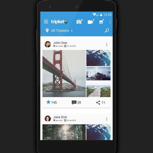 App UI design for Tripket