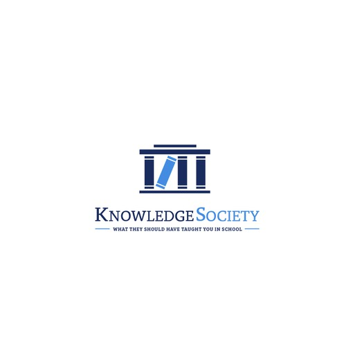 """Logo for """"Knowledge Society"""" that teaches people actionable and practical business skills"""