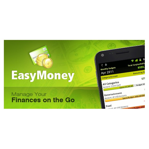 Promotional graphics for Personal Finance mobile application