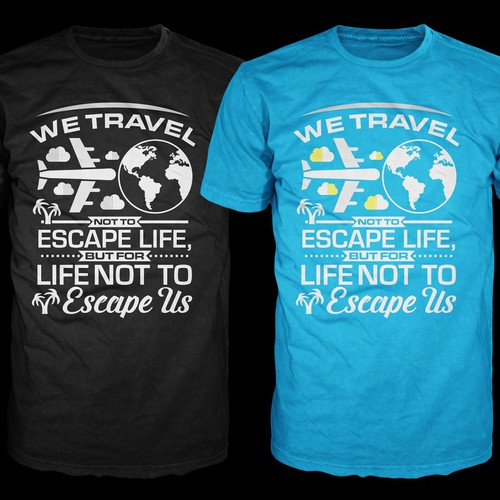 Typography Tshirt Design For Travellers