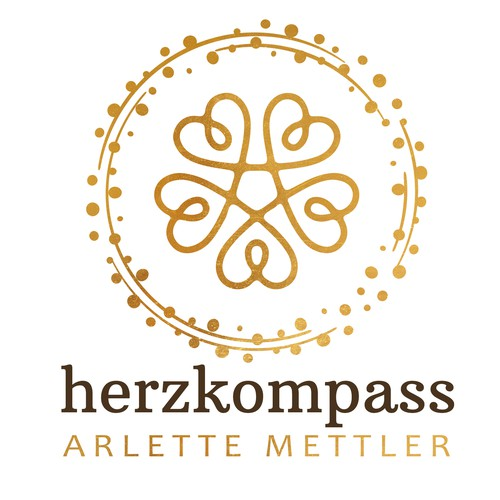 """Heart compass"" logo for personal coach."