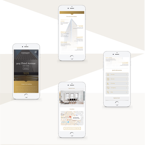 Responsive design for a luxury brand