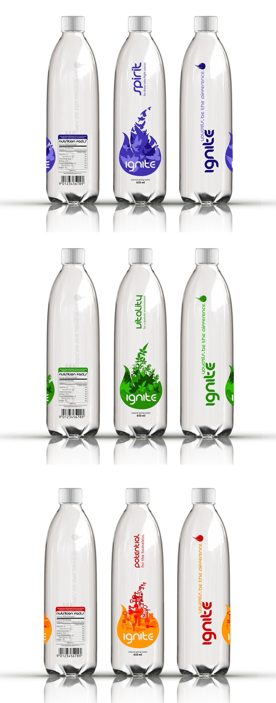 product label for ignite