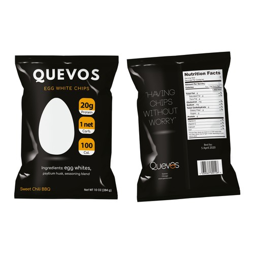 Snack Bag Package Design for Quevos