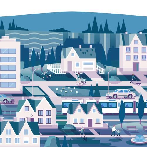 Commute Illustration