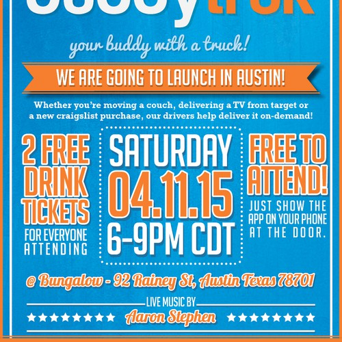 Austin Launch Party Flyer