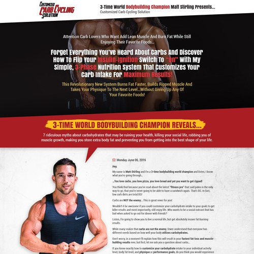 Long Form Sales Copy Page - Fitness Related