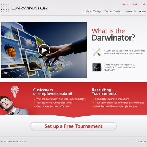 website design for Darwinator