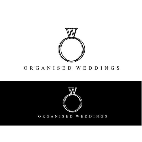 Create a capturing logo for an online wedding guide