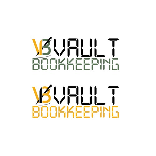 Create a simple and clean logo for a bookkeeping startup