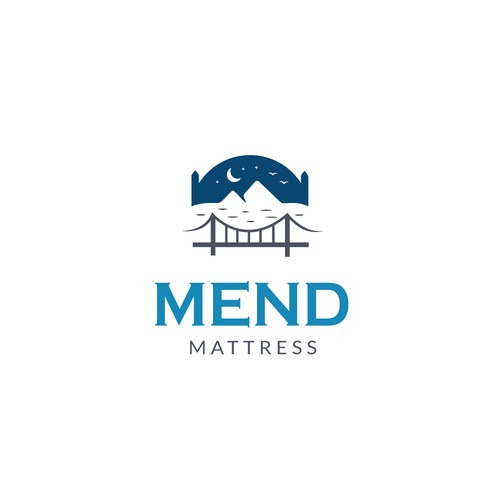 Logo for a mattress brand