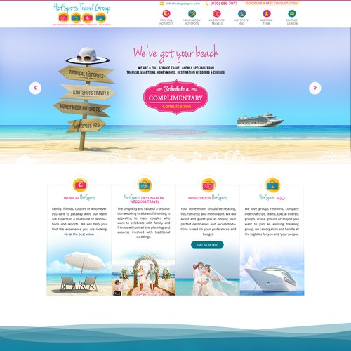 vocations travel group need a clean and logo based website