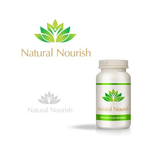 "Create a vibrant yet simple logo for vitamin company ""NaturalNourish""."