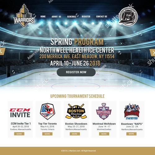 Li-Warriors - Ice Hockey Team Website