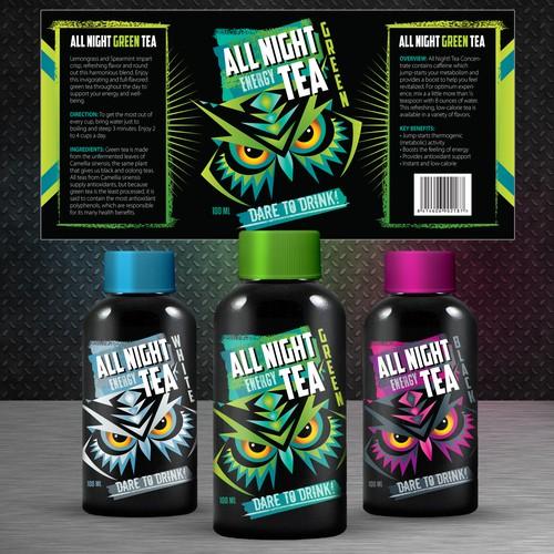 Label design - energy tea