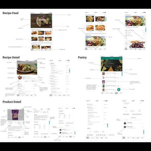 Concept design for Cooklist