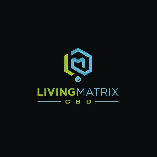 Geometric Modern logo for Living Matrix CBD and cannabis oil