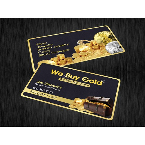 Business Card Design for Gold Buyer!