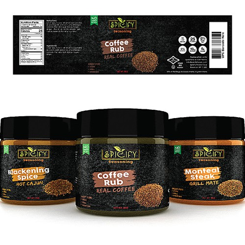 New Seasoning Labels Design