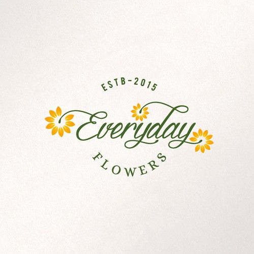 A creative logo for Everyday Flowers